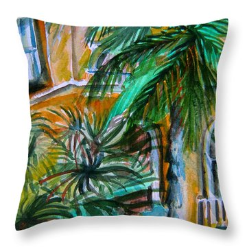 A Hotel In Sorrento Italy Throw Pillow by Mindy Newman
