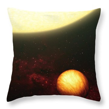 A Jupiter-like Planet Soaking Throw Pillow by Stocktrek Images