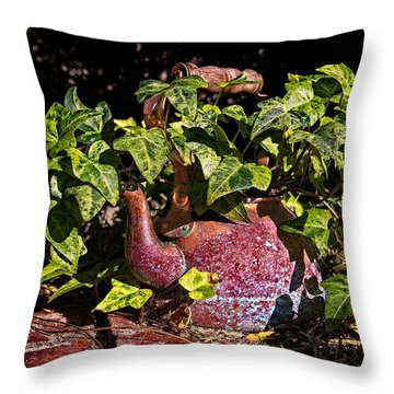 A Kettle Of Greens Throw Pillow by Christopher Holmes