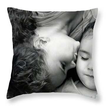 A Kiss For O Throw Pillow