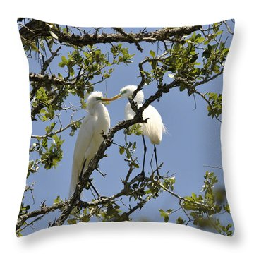A Kiss Is Just A Kiss... Throw Pillow