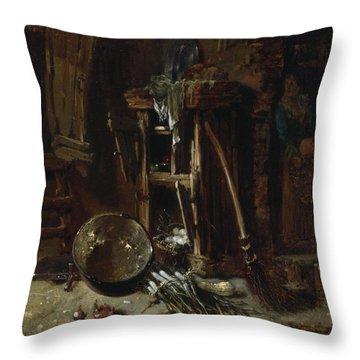 A Kitchen Corner Throw Pillow by Willem Kalf