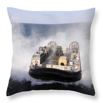 A Landing Craft Utility From Assault Throw Pillow by Stocktrek Images