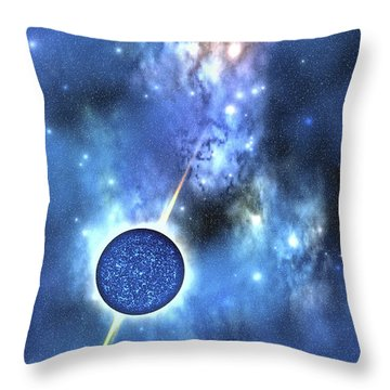 A Large Star With Concentrated Matter Throw Pillow by Corey Ford