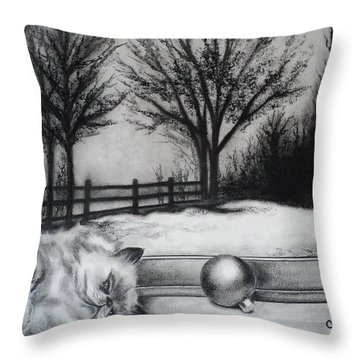 A Lazy Winter Day Throw Pillow