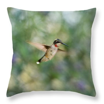 A Little Flash Of Red Throw Pillow