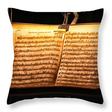 A Little Night Music Throw Pillow by Lauri Novak