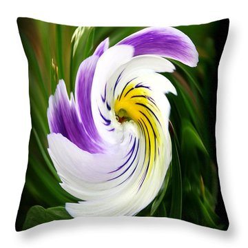 A Little Swirl Throw Pillow