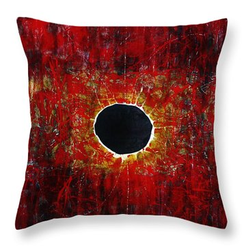 Throw Pillow featuring the painting A Long Time Coming by Michael Cross