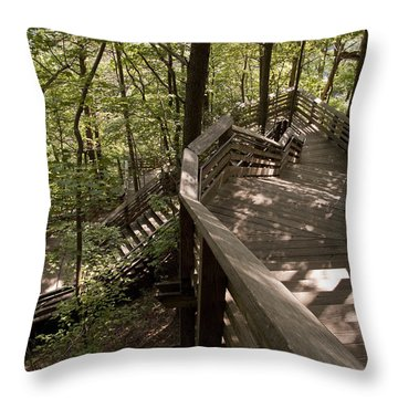 Throw Pillow featuring the photograph A Long Way Down by Jeannette Hunt