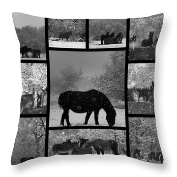 A Long Winter Throw Pillow by Christy Leigh