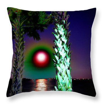 A Lycanthrope's Point Of View Throw Pillow