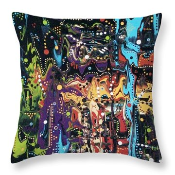 A Market In Nairobi Throw Pillow