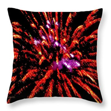 A Million Trails Throw Pillow by DigiArt Diaries by Vicky B Fuller