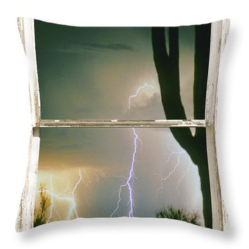 A Moment In Time Rustic Barn Picture Window View Throw Pillow by James BO  Insogna