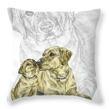 A Mothers Love - Labrador Dog Print Color Tinted Throw Pillow