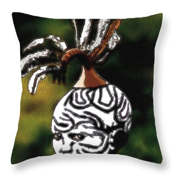 Throw Pillow featuring the painting A Murzi Boy by Jann Paxton