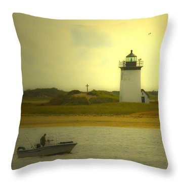 A New England Moment Throw Pillow by Karol Livote