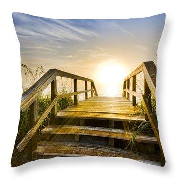 A New Start Throw Pillow by Debra and Dave Vanderlaan