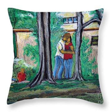 A Nice Day In Dominion Square  Throw Pillow