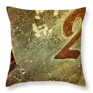 A One And A Two Throw Pillow by Olivier Calas