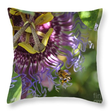 A Passion For Flowers Throw Pillow