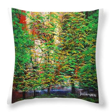 Throw Pillow featuring the painting A Peaceful Place Poster by Dan Whittemore