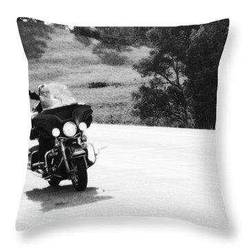 A Peaceful Ride Throw Pillow