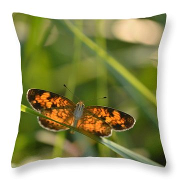 Throw Pillow featuring the photograph A Pearl In The Grass by JD Grimes
