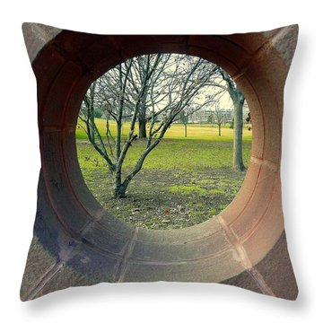 A Peek At The Park Throw Pillow