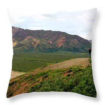 Throw Pillow featuring the photograph A Photographer's Dream by Kathy  White