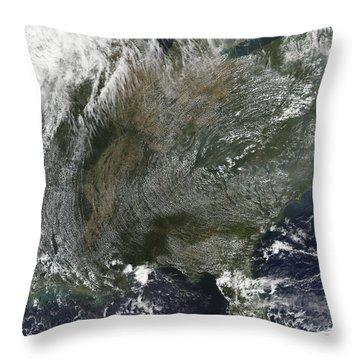 A Pinwheel-like Pattern Of High Throw Pillow by Stocktrek Images