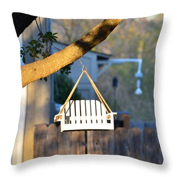 A Place To Perch Throw Pillow