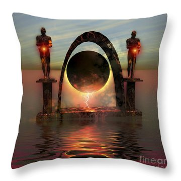 A Portal To Another Dimensional World Throw Pillow by Corey Ford