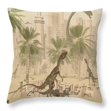 A Prehistoric City Now Void Of Any Life Throw Pillow by Mark Stevenson