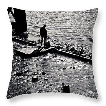 Throw Pillow featuring the photograph A Quiet Moment... by Lenny Carter