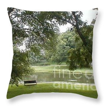 A Quiet Place Throw Pillow by Vonda Lawson-Rosa