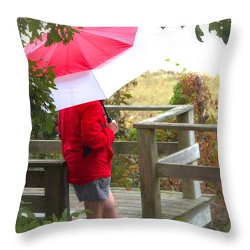 A Rainy Summer's Day Throw Pillow by Karol Livote