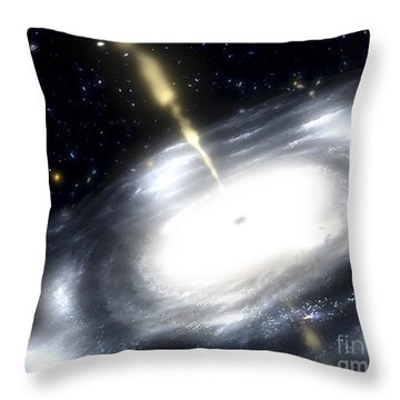 A Rare Galaxy That Is Extremely Dusty Throw Pillow by Stocktrek Images