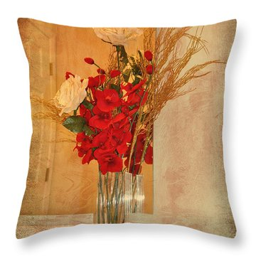 Throw Pillow featuring the photograph A Rose By Any Other Name by Kathy Baccari