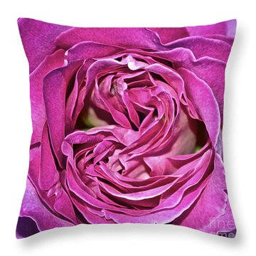 A Rose Is A Rose ... Throw Pillow by Gwyn Newcombe