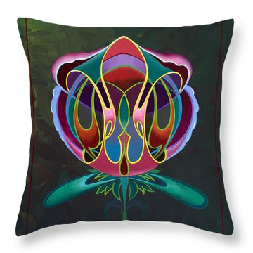 Throw Pillow featuring the painting A Rose Of Any Other Name by Alan Johnson