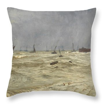 A Rough Day At Leigh Throw Pillow by William Pye