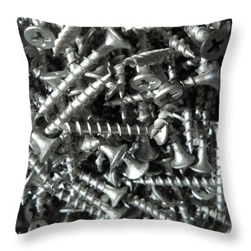 A Screwy Photograph Throw Pillow by Kent Lorentzen