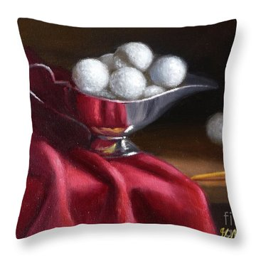 A Serving Of Golf Balls... Throw Pillow