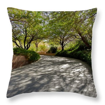A Shadowed Drive In Palm Desert Throw Pillow