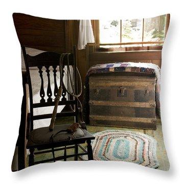 A Simpler Life Throw Pillow by Lynn Palmer