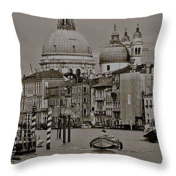 A Slice Of Venice Throw Pillow by Eric Tressler