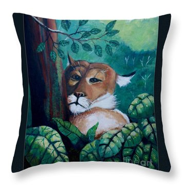 A Slightly Shy Furtive Look Throw Pillow