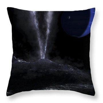 A Small Geyser On The Surface Throw Pillow by Fahad Sulehria